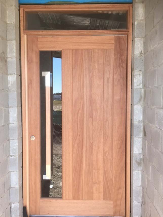 Solid timber front and entry doors beachwood doors for Solid hardwood front doors